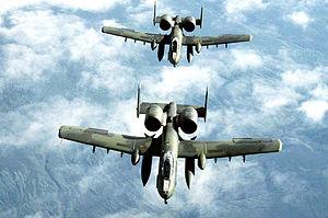 Thunderbolt II flight above