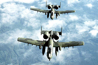 190th Fighter Squadron, Blues and Royals friendly fire incident - Two A-10 Thunderbolt jets