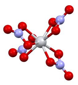 Titanium nitrate compound of titanium