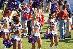 Tennessee Titans Cheerleaders - Titans cheerleaders performing in 2008