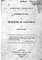 Title page; Commentarii de morborum historia et curatione Wellcome L0000079.jpg