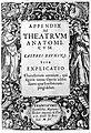 Title page of Appendix ad Theatrum Anatomicum Wellcome L0013207.jpg