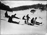 Tobogganing on snow shoes (2900854785).jpg