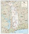 Togo relief map 2007, CIA.jpg