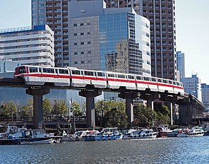 Tokyo Monorail 1000 series - Image: Tokyo Monorail 1049F History Train 500 series revival color