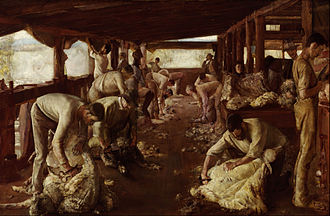 The Golden Fleece (painting) - Image: Tom Roberts The Golden Fleece Google Art Project
