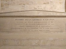 Tomb of Pierre-Jean-Georges Cabanis in Panthéon.jpg