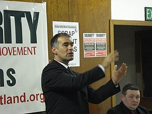 Tommy Sheridan dans un meeting de Solidarity, ...