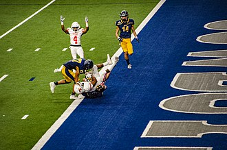 Touchdown - Image: Touchdown Texas High School vs Highland Park High School first round playoffs