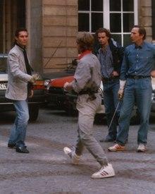 """Tournage de """"Liberté, libertés"""" sous la direction de Claude Carliez à Bordeaux en 1988"""