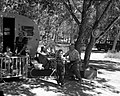 Trailer family camping in South Campground. ; ZION Museum and Archives Image ZION 9228 ; ZION 9228 (8eedd45b828242cbbbed00368a971377).jpg