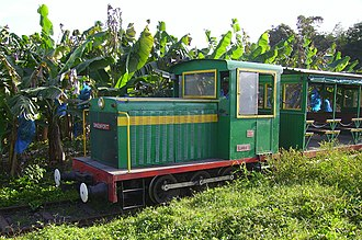 Le Train des Plantations - Heritage train in a banana plantation