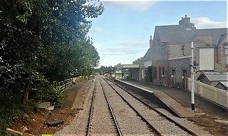 Hardingham railway station Railway station in Norfolk, England