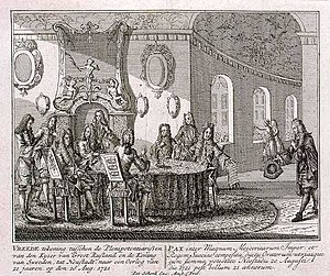 1721 in Sweden - Signing of the Treaty of Nystad