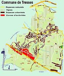 La commune de Tresses en 2008