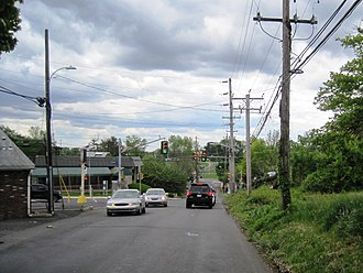 Trevose, Pennsylvania - Intersection of Old Street Road and Brownsville Road