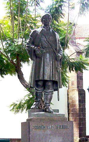 Tristão Vaz Teixeira - Statue of Tristão Vaz Teixeira in Machico.
