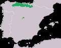 Triturus alpestris. Distribucion Iberica.png