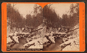Trout stream in winter, among the Alleghenies near Cresson, on the P. R. R, by R. A. Bonine 6.jpg