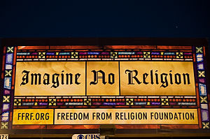 Sign of the Freedom from Religion Foundation, ...
