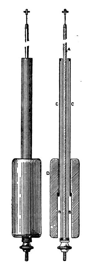 Gridiron pendulum - Tubular zinc-steel compensated pendulum