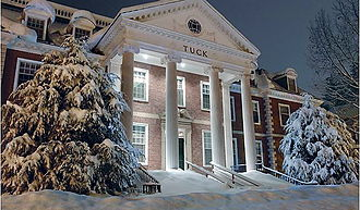 Tuck School of Business - Tuck Hall, the Tuck School's main administrative building, after a heavy snowfall
