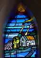 Tullow Church of the Most Holy Rosary North Transept Window Bishop Daniel Delany Detail Teaching Patrician Brother 2013 09 06.jpg