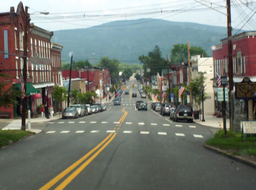 none Downtown Tunkhannock, looking east along Tioga Street (U.S. Route6 Business).