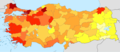 Turkey GDP(PPP) per capita income by province 2012.png