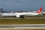Turkish Airlines, TC-JJV, Boeing 777-3F2 ER (45297461781).jpg