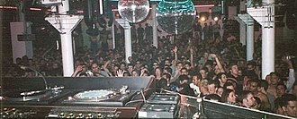 Twilo - View of the dance floor from the DJ booth