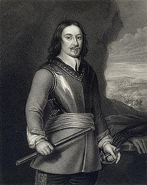 Thomas Tyldesley - An 1831 engraving of Sir Thomas Tyldesley by John Cochran, after an earlier painting