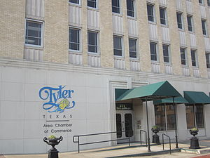 Tyler metropolitan area - Chamber of Commerce office in downtown Tyler