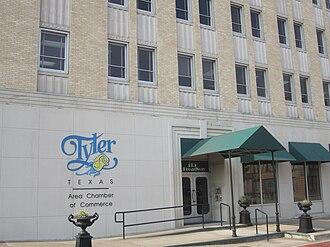 Tyler metropolitan area - Chamber of Commerce office in downtown Tyler