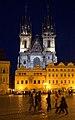 Tyn Cathedral at night - Prague, Czech Republic - panoramio.jpg