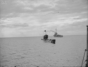 U-1009 surrenders at Loch Eriboll Scotland 1945 IWM A 28521.jpg