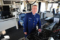 U.S. Coast Guard Chief Petty Officer Jeffrey Arnold, the executive petty officer of the cutter USCGC Frank Drew (WLM 557), poses for a photo on the bridge of the cutter in Portsmouth, Va., April 3, 2013 130403-G-RU719-157.jpg