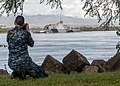 U.S. Navy Mass Communication Specialist 3rd Class Diana N. Quinlan documents the arrival of the littoral combat ship USS Freedom (LCS 1) to Joint Base Pearl Harbor-Hickam, Hawaii, for a scheduled port visit 130311-N-QG393-017.jpg