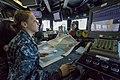 U.S. Navy Quartermaster 3rd Class Lisa Barker updates charts for outboard transit aboard the guided missile destroyer USS Spruance (DDG 111) in Yokosuka, Japan, Dec. 2, 2013 131202-N-BB269-212.jpg