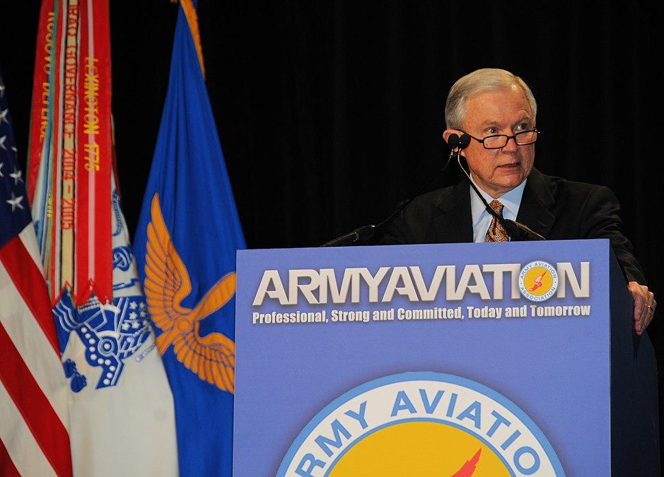 U.S. Senator Jeff Sessions speaks during Army Aviation Association of America (AAAA) 2012 in Nashville, TN