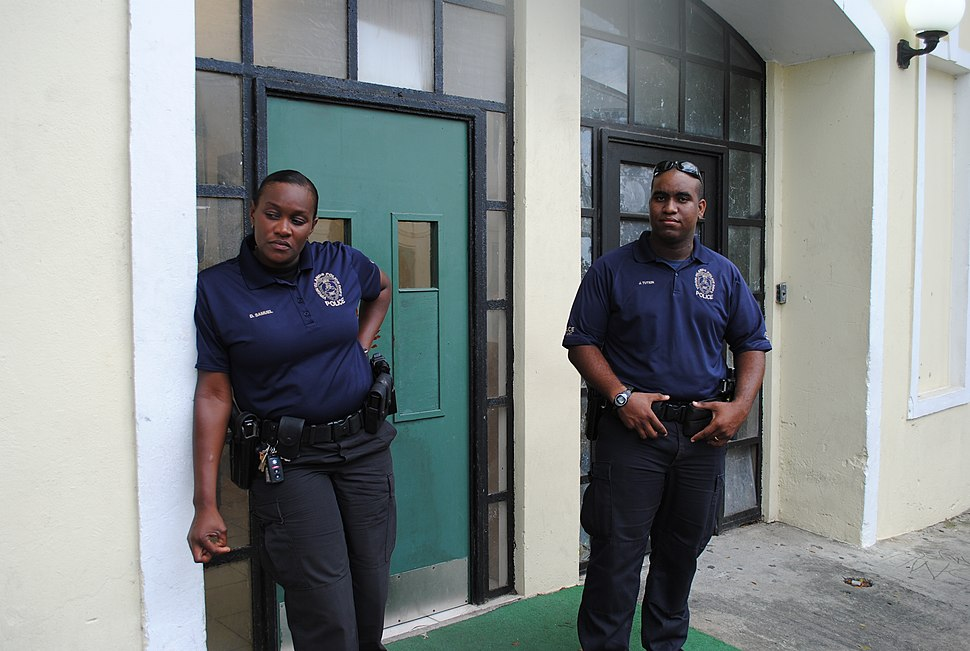 U.S. Virgin Islands Police Department officers in Christianstad, St. Croix (February 2012)