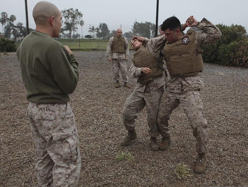 File:U. S. Marine Sgt. Charles J. Patlan, a black belt ...
