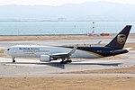 UPS 5X104 Boeing 767-34AF(ER), N357UP, departing to Shanghai, Kansai Airport.jpg