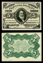 Five-cent third-issue fractional note