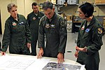 USAF Female Fighter Pilots Col Jeannie Leavitt & Christine Mau presents new operations plans to Ninth Air Force commander Maj Gen Jake Polumbo.jpg