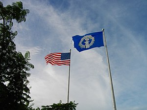 Gi Talo Gi Halom Tasi - Image: USA and CNMI Flags