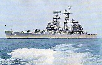 USS Galveston (CL-93) - Image: USS Galveston (CLG 3) underway in 1963
