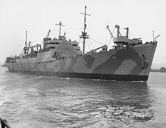 USS George F. Elliott (AP-13) - Image: USS George F Elliott (AP 13) off Norfolk VA Jan 1942