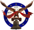 USS Liberty (AGTR-5) insignia, 1964 (NH 83352-KN).png