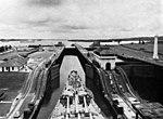 USS Missouri (BB-63) entering Gatun Locks 1952.jpg